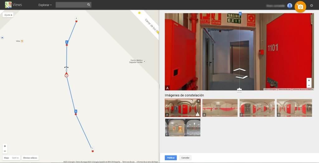 Edición de vista en Google Views